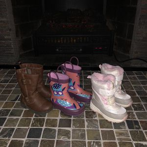 Size 6 T Toddler Snow Boot Rain Boot Lot for Sale in Warwick, NY