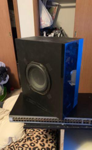 black subwoofer speaker for Sale in Sioux Falls, SD