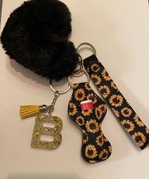 Heart pompom and custom letter keychain for Sale in Wichita, KS