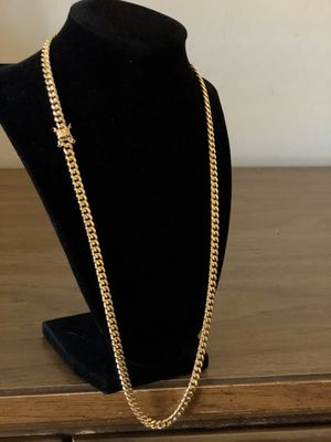Cuban link 14 k Gold Plated Chain for Sale in Glendale, AZ