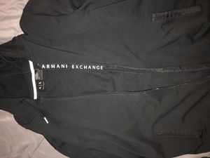 Armani Exchange black Zip Up hoodie Size: S for Sale in Adelphi, MD