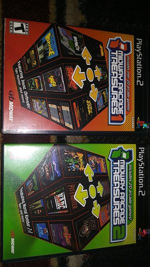 Midway Arcade Treasures 1 & 2 Sony PS2 video games for Sale in Stockton, CA