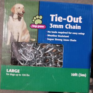 TIE-OUT 3mm dog chain for Sale in West Covina, CA