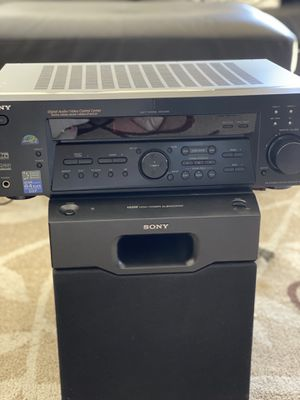 Sony FM Stereo FM-AM AV Receiver & Active Powered Subwoofer for Sale in Gardena, CA