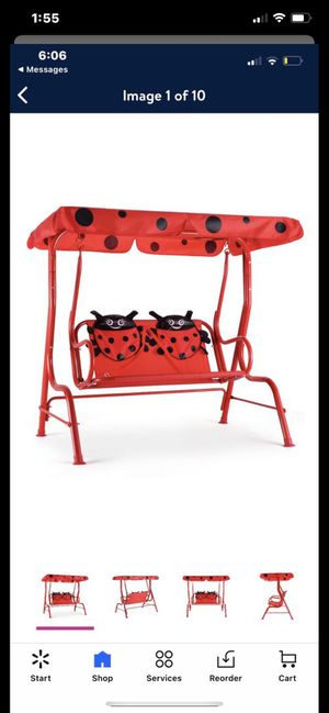 Brand New‼️Kids Patio Swing Chair Children Porch Bench Canopy 2 Person Yard Furniture red for Sale in Fountain Valley, CA
