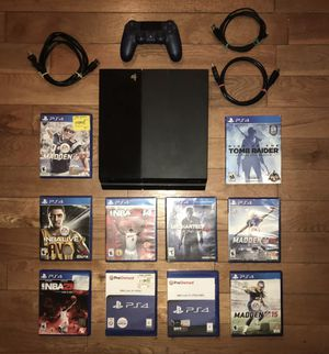 Sony Ps4 500GB Console Bundle With Controller & Games for Sale in Washington, DC