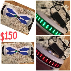 Hoverboard With Bluetooth Speaker And Lights Has A New Battery N Charger for Sale in Burlington, NC