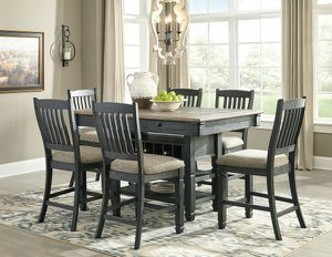 Tyler Creek black / grey rectangle dining room counter table for Sale in Orlando, FL