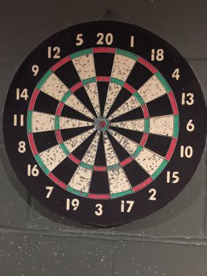 black and white dart board for Sale in Quincy, IL