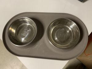 Messy Mutt Dog Double Feeder Bowl for Sale in Los Angeles, CA