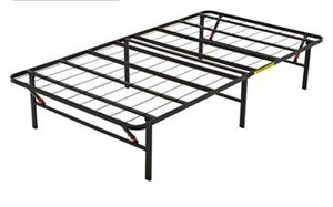 Foldable Metal platform bed frame for Sale in Buffalo, NY