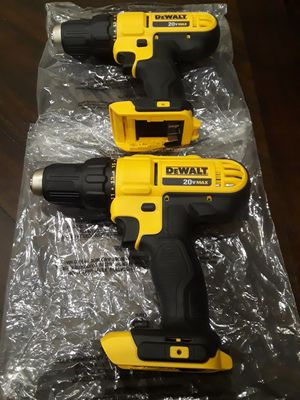 """2 brand new dewalt 20v drill s 1/2"""" 2- speed model DCD771 tools only no battery no charger for Sale in Fresno, CA"""