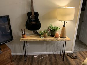 Spalted maple live edge console table for Sale in Blacklick, OH