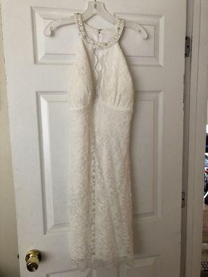 Davids Bridal Cocktail length Ivory wedding dress for Sale in Aurora, IL