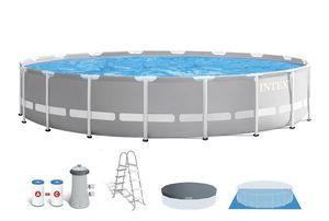 Intex 18ft x 48in Prism Frame Above Ground Swimming Pool Set with Pump for Sale in Garden Grove, CA