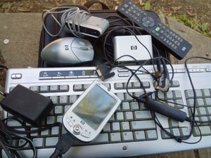 Hp personal comp wireless receivers mouse and keyboard lot for Sale in Columbus, OH