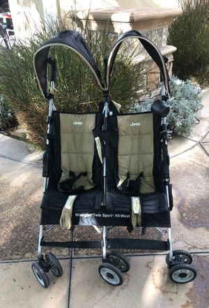 Jeep Wrangler Twin Sport All-Weather Double Stroller for Sale in Yorba Linda, CA