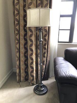 Beautiful brushed nickel floor lamp! for Sale in Hollywood, FL