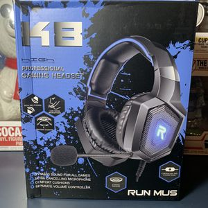 Pro Gaming Headset - RUN MUS K8 Blue for Sale in Chicago, IL