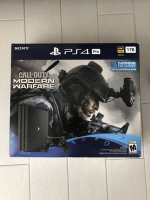 PS4 Pro Modern Warfare Edition and headset for Sale in Miami, FL