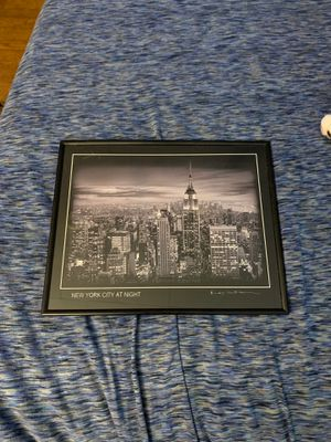 New York At Night Framed Photo for Sale in Morgantown, WV