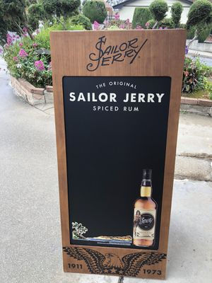 """Sailor Jerry Spiced Rum Beer Bar A-Frame Chalkboard """"New""""mirror Man Cave for Sale in Monterey Park, CA"""