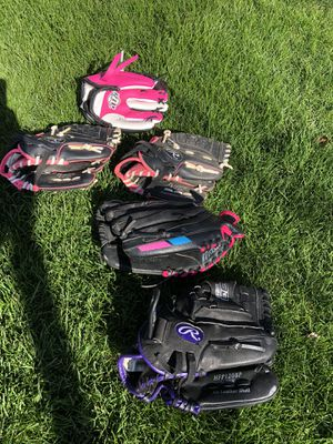 Softball gloves (various sizes) for Sale in Lemont, IL