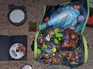 Skylanders 40 pieces and cards , bags game and platform for Sale in Burkburnett, TX