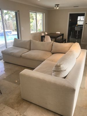 Modern Down Feather Sectional Sofa Couch for Sale in Oakland Park, FL