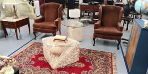 Pair of Brown Wing Back Chairs for sale for Sale in BRECKNRDG HLS, MO