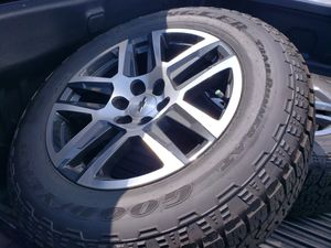 275/60/20 GoodYear Wrangler Trail Runner A/T and Silverado Trail Boss wheels for Sale in Fort Washington, MD