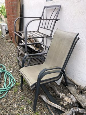Two free patio chair. Material is torn. for Sale in San Diego, CA