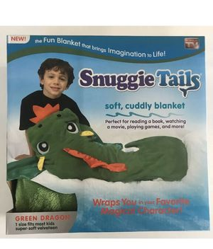 Snuggie Tails Dragon Kids Blanket Green Cozy Soft for Sale in Bakersfield, CA