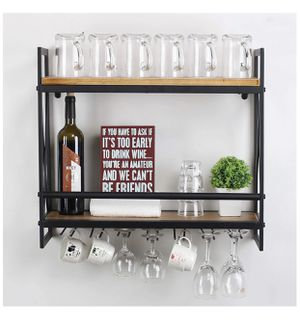 Wall mount racks wine glass holder new open box for Sale in Lake View Terrace, CA