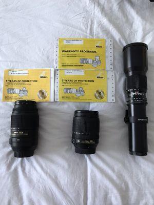 (3) sets of NIKON LENSES for Sale in Miramar, FL