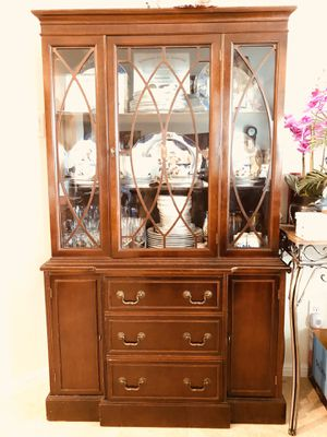 Antique Wood China Cabinet for Sale in Fort Worth, TX
