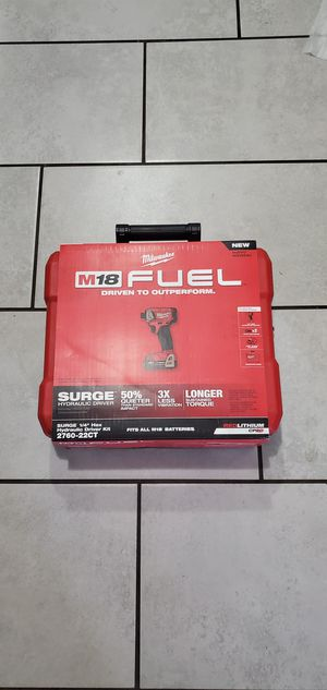 MILWAUKEE M18 VT FUEL BRUSHLESS IMPACT DRILL SURGE 3 SPEEDS W 2 BATTERIES AND CHARGER SET NEW NUEVO for Sale in Long Beach, CA
