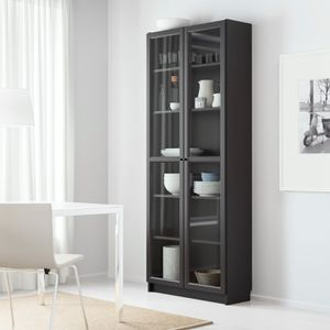 *brand New* IKEA Billy Bookshelf With Glass Doors - Black for Sale in New Haven, CT