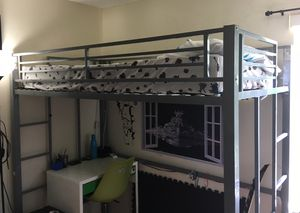 Steel fun cool bunk style bed kid gray for Sale in Fort Lauderdale, FL