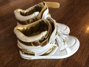 Michael Kor Gold Fashion High Top Shoes for Sale in Wake Forest, NC