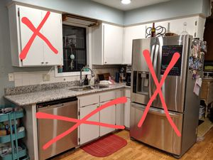 Kitchen: cabinets, counters, disposal, sink, micro for Sale in Woodburn, OR