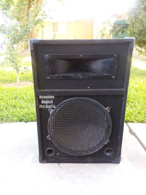 SPEAKER 15 INCHES ACOUSTIC DIGITAL PRO AUDIO GOOD WORKING CONDITION..BOCINA DE 15 PULGADAS TRABAJA BIEN for Sale in Riverside, CA