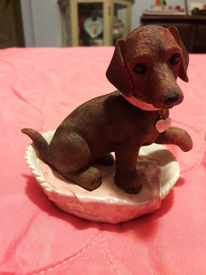 Used, Hamilton Collection Breast Cancer Awareness Dachshund Dog for Sale for sale  Port St. Lucie, FL