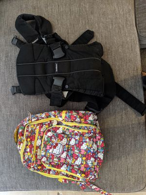 Baby Bjorn Carrier and Hello Kitty Diaper Bag for Sale in San Diego, CA