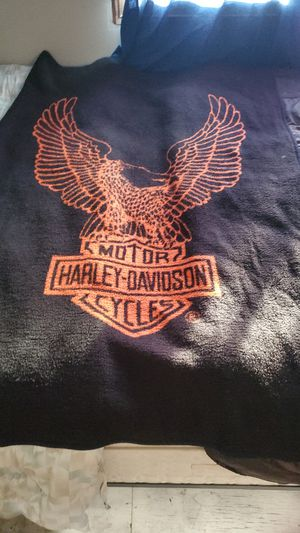 Harley's Davidson blanket very nice never used only a wall hanging piece in room for Sale in Wichita, KS