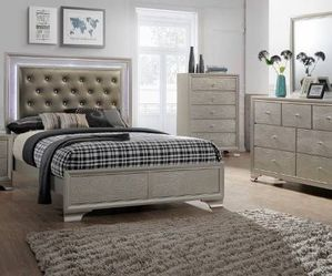 Queen Bed Frame Dresser Mirror Night Stand Price Firm for Sale in Pomona,  CA