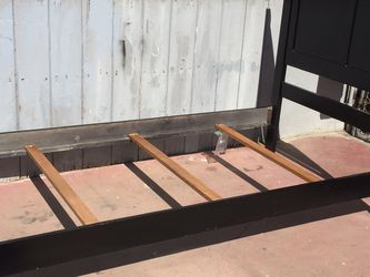 Black Twin Bed Frame In Good Condition for Sale in Fresno,  CA