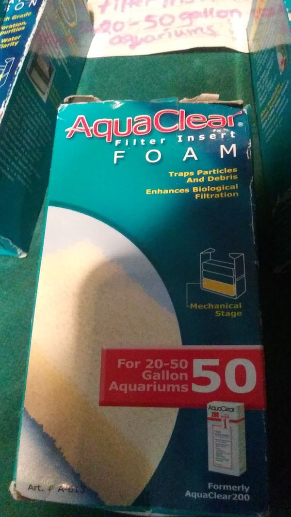 Aquarium filter inserts