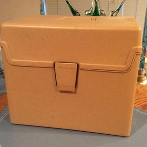 Plastic File Cabinet With Hindged Lid And Carry Handle—-measures 12 Inches Wde By 9 Inches Deep By 10 Inches Tall for Sale in Kent, WA