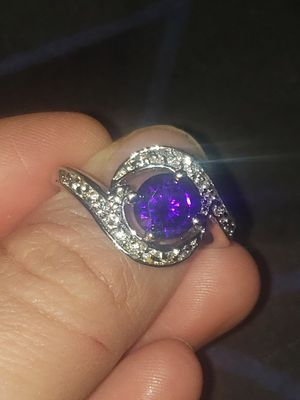 Silver plated amethyst gem stone ring for Sale in Richland, WA